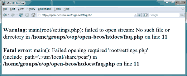 Web Security PHP Errors